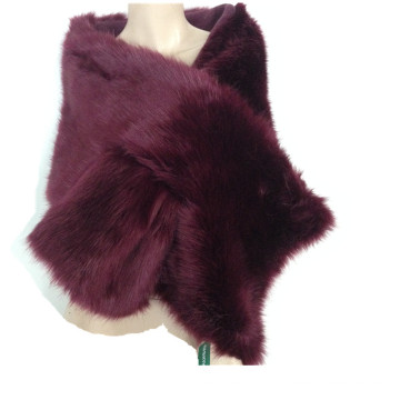 Vente chaude / Femme de haute qualité Mink Fur Cape Ladies dernière mode d'hiver Mink Fake Fur Knitting Shawls Echarpe