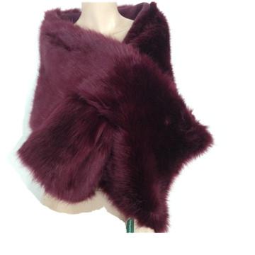 Hot Sale / High Quality Women Mink Fur Cape Ladies Latest Winter Fashion Mink Fake Fur Knitting Shawls Scarf