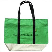 100% organische Förderung Silk Print Messenger Baumwolltasche