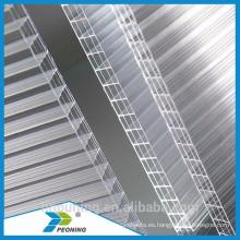 UV protegido anti-caída y fácil limpiar policarbonato multi-pared hoja hueca