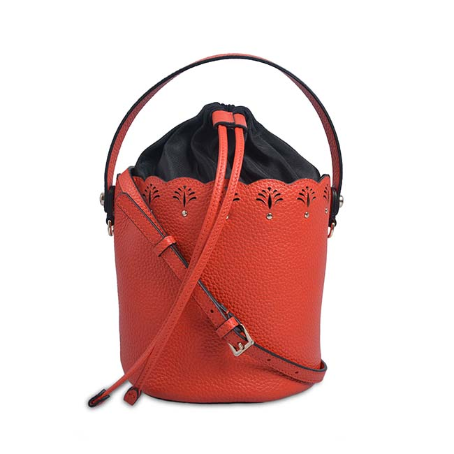 fashion leather women hand bag lady bags female handbag bucket leather bag