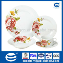 popular flower design dinner sets,crockery china dinner sets prices,ceramic dinner sets