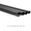 Sarja da espessura 3K da espessura de 20 * 30 * 550mm / tubos octogonais da fibra completa matte lisa do carbono