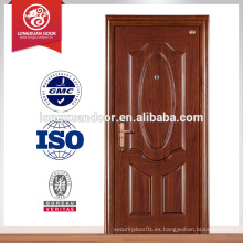 Venta caliente simple puerta principal de acero con tiradores de puerta