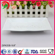 9.8 Inch porcelain white square plate