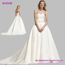 Vestido de noiva personalizado barato elegante querida