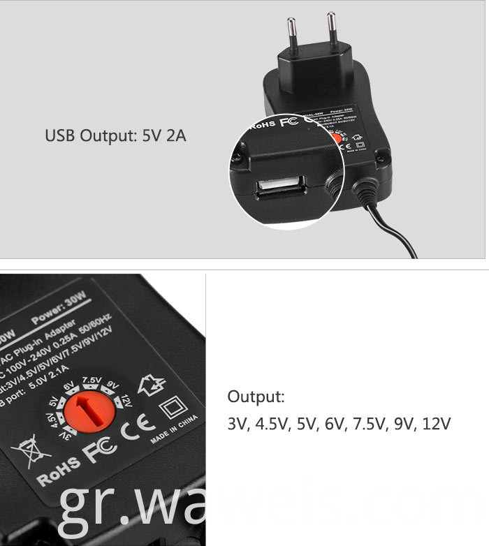 Eu plug wall charger