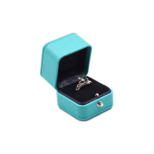 Elegant Luxury Gift Packaging Square PU Leather Jewelry Box Luxury Packaging Box For Ring