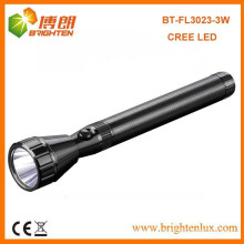 Factory Outlet CE Meilleur 160lumen 3SC Handheld Long Range Aluminium Metal USA Cree led Rechargeable Torches