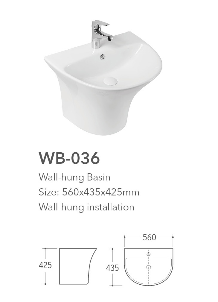 Wb 036 Wall Hung Basin