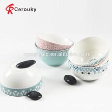 Geprägte bunte Abziehbild-Porzellankeramikschale