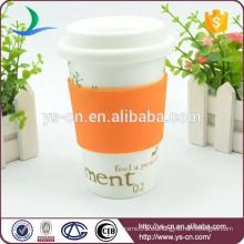 Nueva taza de porcelana con tapa al por mayor