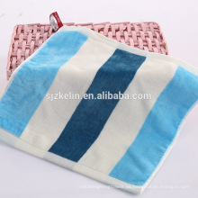Fábrica al por mayor de hilo teñido 100% algodón terciopelo pequeña cara toalla fábrica al por mayor de hilo teñido algodón terciopelo pequeña toalla de la cara