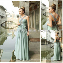 New Style chiffon made halter style floor length factory directly sell dresses evening