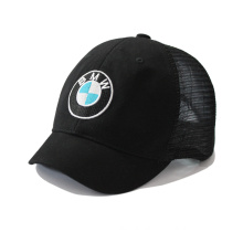 Short Brim Mesh Cap with Logo Embroidery