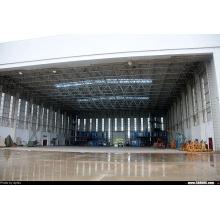 Hangar pré-fabricado curvado do telhado do hangar do aeroporto do Pre-Projetado do zinco