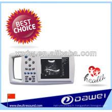 Échographie vétérinaire portative avec le dispositif d'ultrason de vétérin de traitement d'image médicale de DW-600