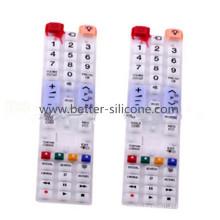 Пользовательские силиконовые резиновые кнопочные панели с двойной жесткостью