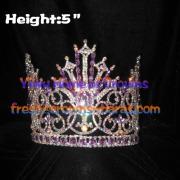 Coroas de concurso rainha de cristal com diamante roxo