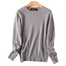 17PKCS464 2017 knit wool cashmere knitted lady sweater