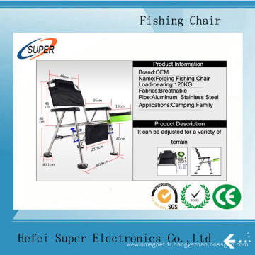 Chaise de pêche pliante extérieure portative