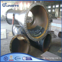 high pressure customized y pipe fitting steel with flanges (USB3-003)