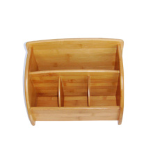 China for Bamboo Multi-Purpose Storage Box Bamboo desk organizer with 4 compartments supply to Greenland Factory