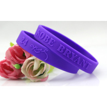 High Quality Factory Embossed Customized Silicone Fashion Bracelet