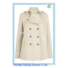 весна горячая распродажа бежевый короткие дамы пальто
