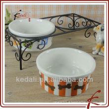 Porcelana cerâmica pet tigelas