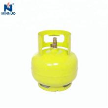 Cilindro de gás vazio do gpl 3kg, tanque de propano, garrafa de gás
