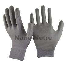 NMSAFETY grey PU washable work glove safety labour glove