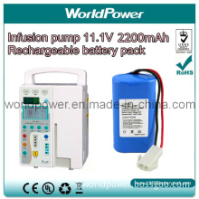 Hight Quality Infusion Pump 11.1V 2200mAh Rechargeable Lithium Battery Pack