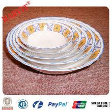 Cuchara de ensalada de porcelana