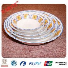 cut edge porcelain salad bowl set