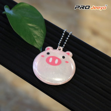 Kids Hi Viz Decorative Cute Pig Hanger