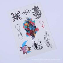 9cmx21cm Tattoofarbe benutzerdefinierte Frauen Körper Tattoo Aufkleber, temporäre Tätowierung Floral Aufkleber