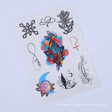 9cmx21cm Tattoo Ink Custom Women Body Tattoo Sticker,Floral Temporary Tatoo Sticker