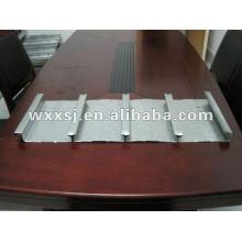 Fechado digitado piso de aço galvanizado, decking do painel