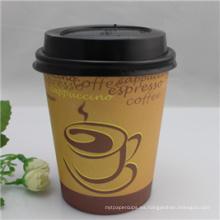 ¡Caliente! ! ! Copa de papel café doble pared con logotipo de diseño Custome