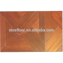 Parquet exquisito Suelo de madera dura Suelo de madera de teca