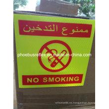 Etiqueta engomada de no fumar