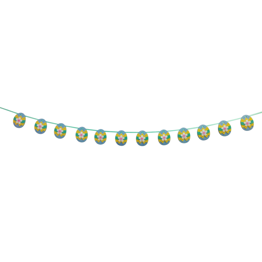 Blue Easter Egg Shape Bunting Flag