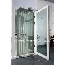 Portes panoramiques pliantes pour ascenseurs