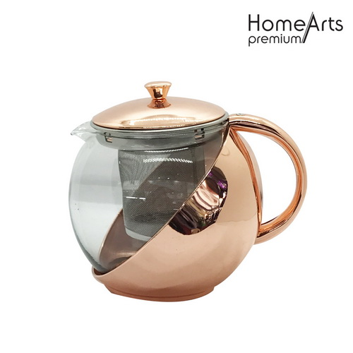Rose gold glass coffee and teapot