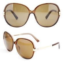 Goldene Metallart und weise Retro- elegante Sonnenbrille für Männer (14305)