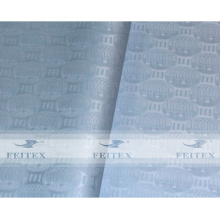 Color azul claro shadda 10 yardas / bolsa tela africana abaya bazin riche teñido jacquard textil de alta calidad