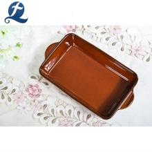 Wholesale Oven Safe Rectangular Stoneware Ceramic Baking Dishes Pans