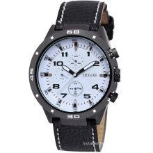 Wholesale custom PU leather cheap alloy case watch