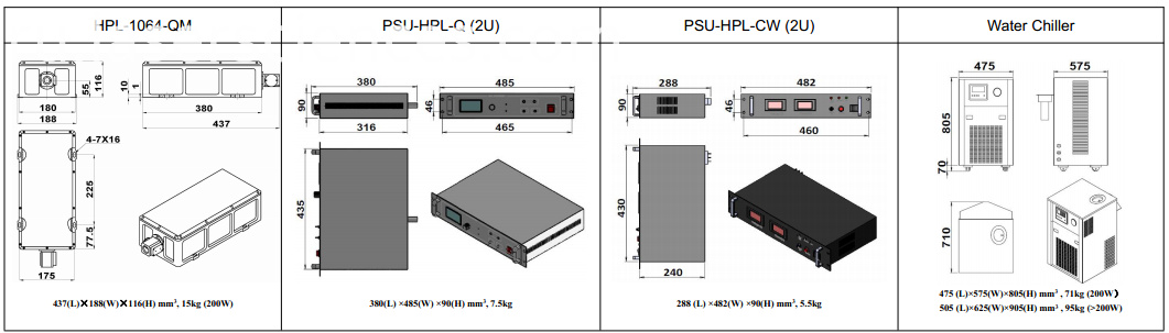 1064nm high peak power laser